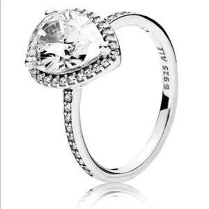 Authentic pandora radiant teardrop ring